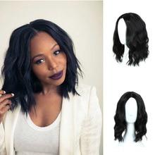 Короткие кудрявые парики MUMUPI, парик с челкой, мягкие волнистые волосы, синтетический натуральный черный парик, волосы для женщин, парики для волос на каждый день