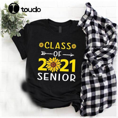 Class Of 2021 Senior Back To School Men Women T Shirt Cotton Black