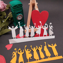 Happy Graduates Metal Cutting Dies Stencil for DIY Scrapbooking album Decorative Embossing Craft Cut Paper Cards Tool