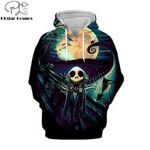 PLstar Cosmos nightmare before christmas jack skellington 3d hoodies/shirt/Sweatshirt Winter Christmas Halloween streetwear-6