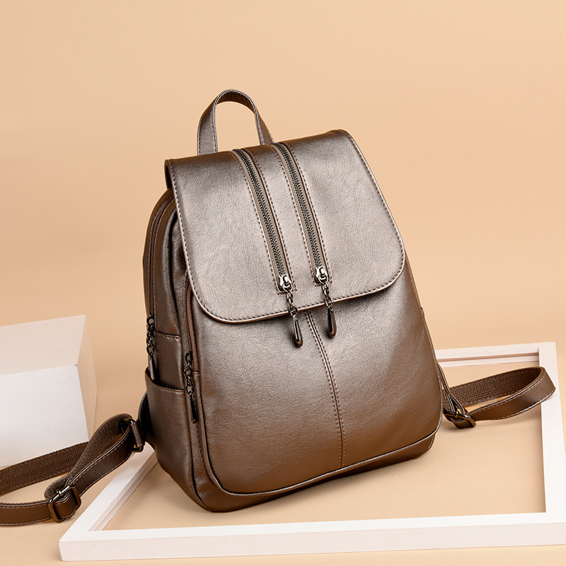 Image 3 - 2019 Brand New Laptop Backpack Women Leather Luxury Backpack Women Fashion Backpack Satchel School Bag Pu-in Backpacks from Luggage & Bags