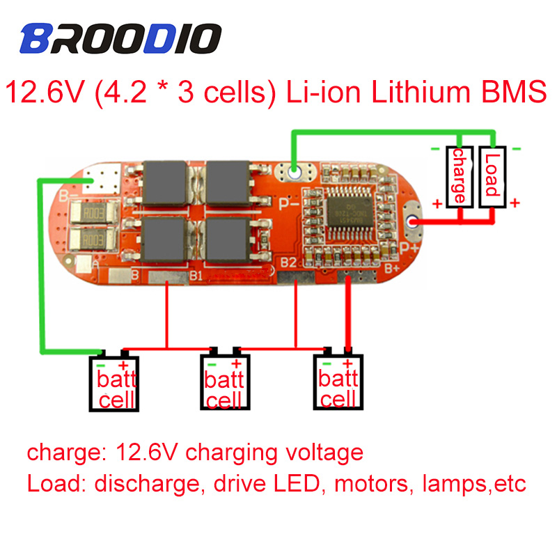 Board-Module Circuit-Balance Protection Equalizer Lithium-Battery Lipo Bms 1s Lto Li-Ion title=