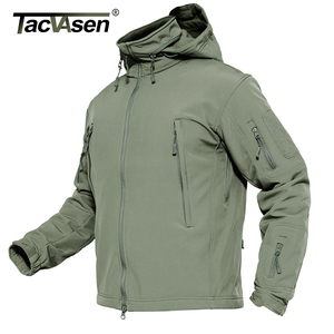 TACVASEN Men Military Jacket Fleece Winter Waterproof Army Coat Tactical Clothing Hunt Hike Softshell Jacket Airsoft Windbreaker(China)