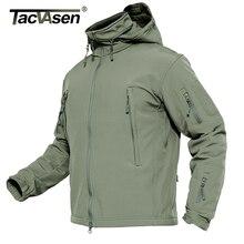 TACVASEN kış askeri polar ceket erkek yumuşak yüzeyli ceket taktik su geçirmez ordu ceketler ceket Airsoft giyim rüzgarlık