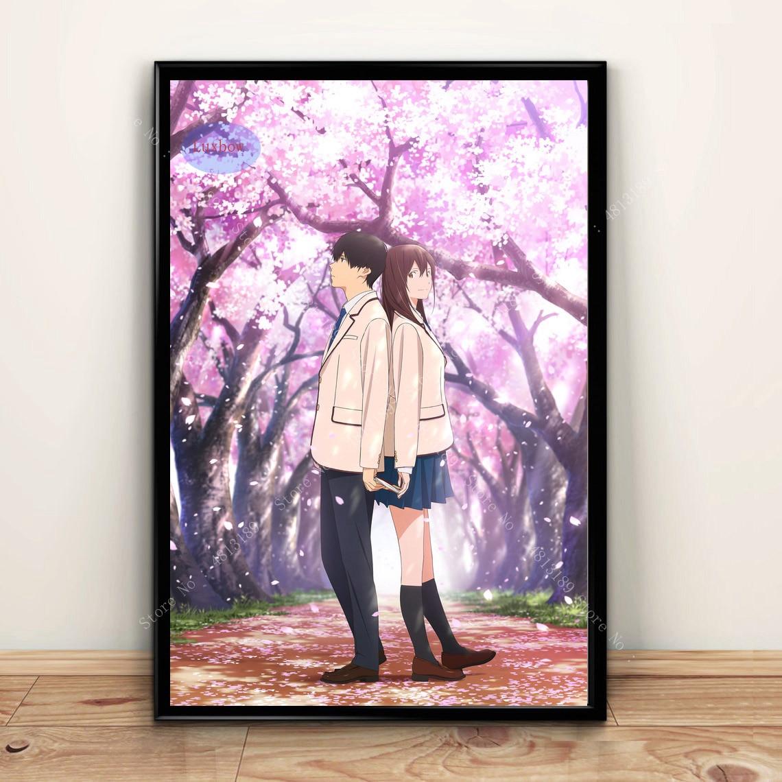 Постеры, принты, я хочу съесть твою поджелудочную железу, японский аниме подарок, картина маслом на холсте, художественные настенные картин...