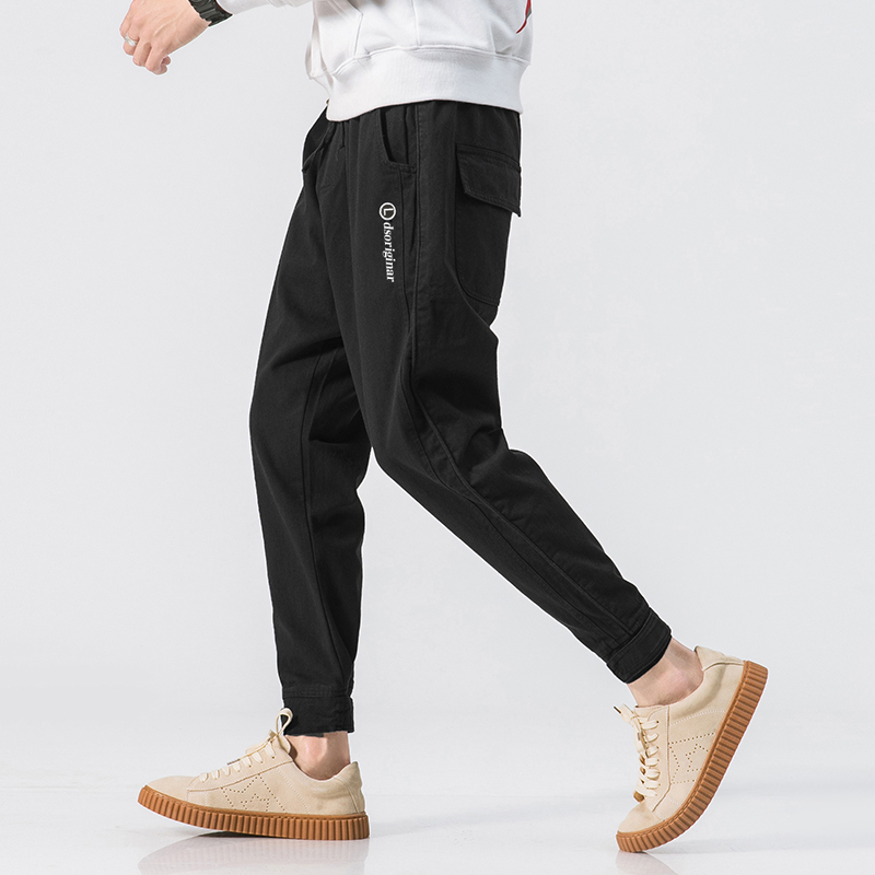 Foot-Pants Pantalon Cotton Joggers Streetwear Loose Coloured Summer New Pure M-3XL Large-Code