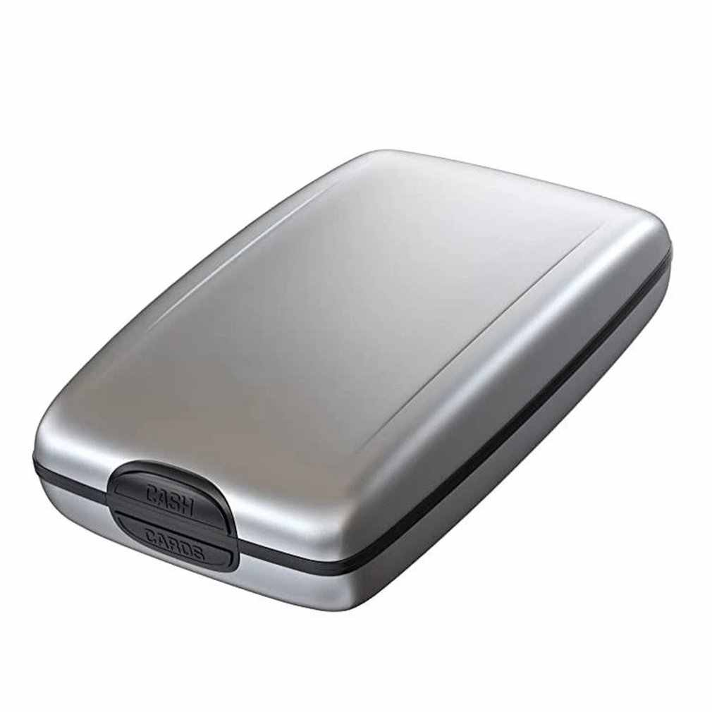 1 Pc Mannen Aluminium Bank Kaarthouder Blocking Hard Case Wallet Solid Credit Card Anti-Rfid Scanning Beschermen Kaart houder Doos Toevallige