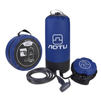11L Outdoor Camping Portable Pressure Bath Bag Shower Bag PVC Travel Hiking BBQ Picnic Water Bag