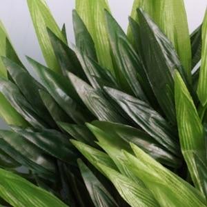 Image 5 - 5pcs סניפים ירוק מלאכותי במבוק עלים משי בד מלאכותי צמחים לחתונה קישוט בית משרד דקורטיבי עלים