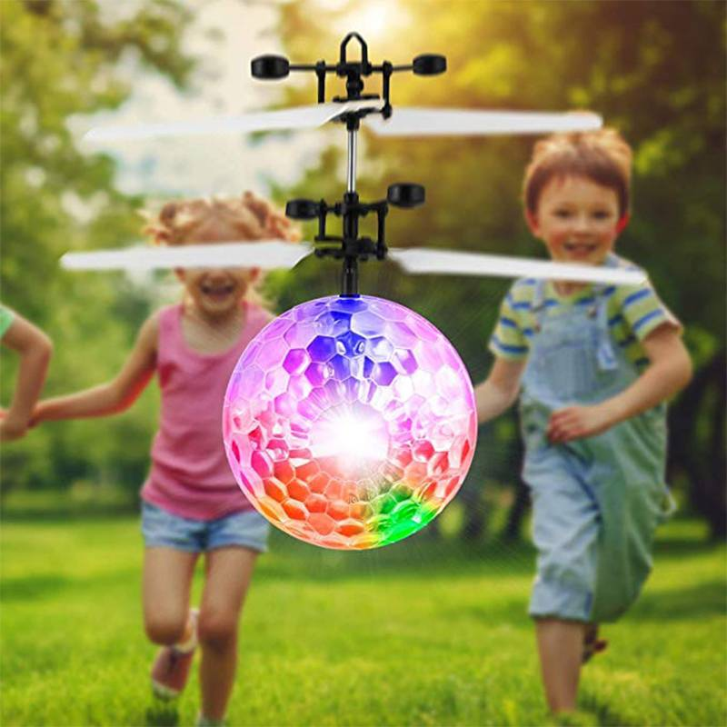 RC Luminous Flying Ball Kid's Drone Electronic Infrared Induction Craft Remote Control Toy LED Light Helicopter Birthday Gift