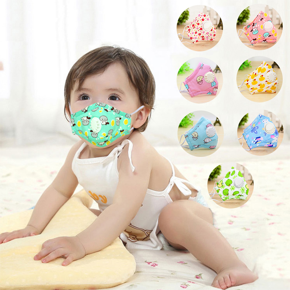 3PCS Children Masks Vertical Printing Nonwoven PM2.5 Folding Particulate Respirator Anti Virus Washable Masks Korean Japan Italy