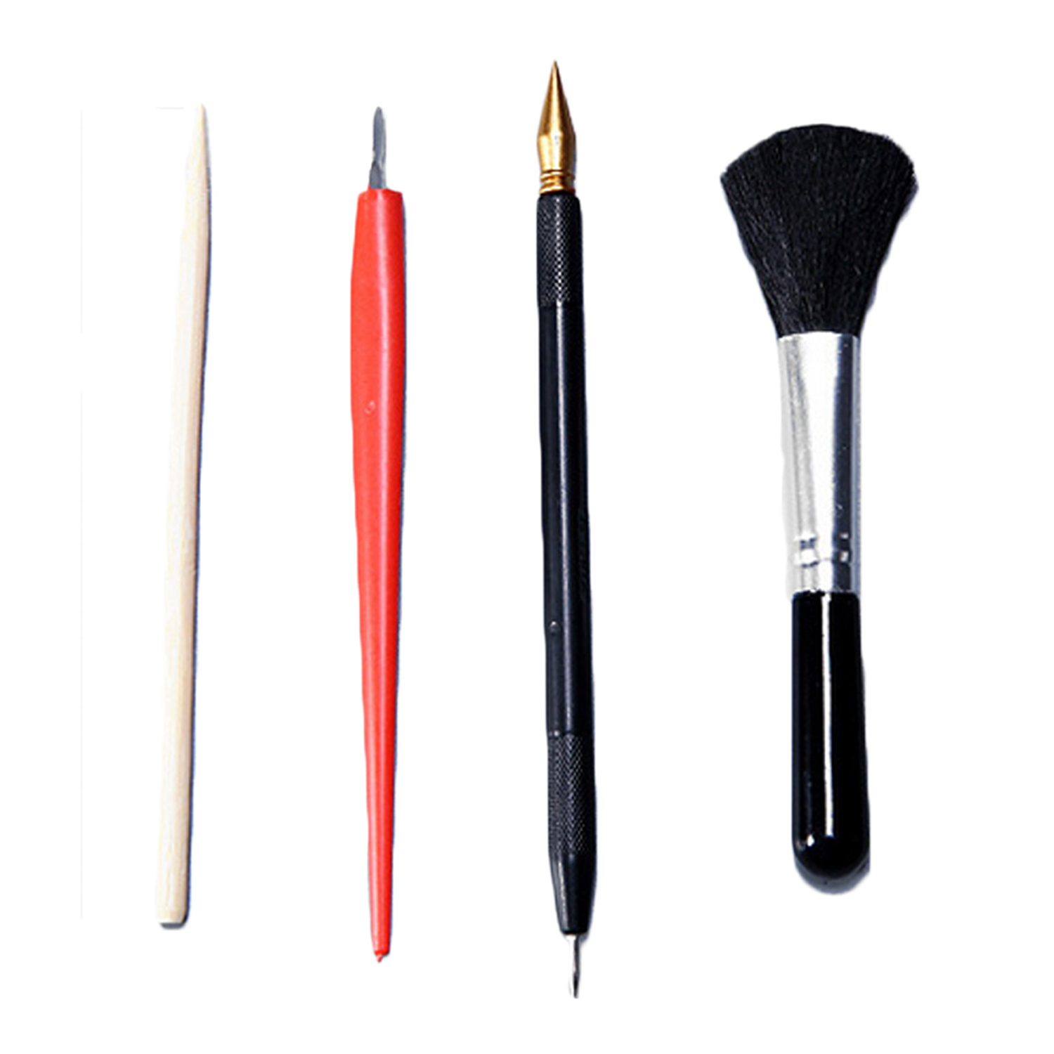 4Pcs Painting Drawing Scratch Arts Set With Stick Scraper Pen Black Brush For Scratch Sketch Art Papers Boards Tools DIY Gift