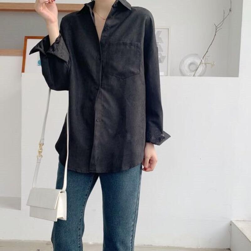 Turn Down Collar Long Sleeve Pocket Shirt 6