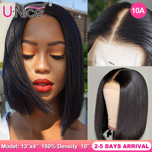 $ US $58.41 Unice Hair 13*4/6 Lace Front Human Hair Wigs 8-14