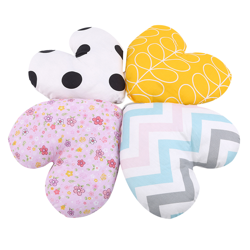 Baby Pillow Comfort Sleeping Pillow PP Cotton Heart Shape Kids Head Support Cushion Baby Shaping Pillow Prevent Flat Head