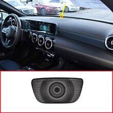 Алюминиевый сплав Черный автомобильный динамик на приборную панель накладка для Mercedes benz A Class W177 V177 A180 A200 аксессуары