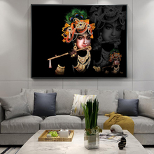 Portrait of Sri Krishna Canvas Paintings On the Wall Art Hindu God Canvas Posters and Prints Hinduism Art Pictures Home Decor the roots of hinduism