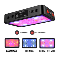 ARKNOAH 1200W Timing LED Grow Light Full Spectrum Double Chip Red/Blue/UV/IR Grow Lamps For Indoor Plants VEG BLOOM