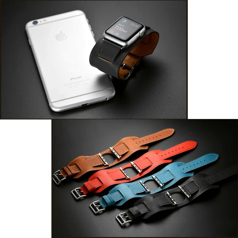 コレアため apple 腕時計 apple 腕時計セリエ 5 3 4 バンド 40 ミリメートル 44 ミリメートル iwatch ストラップ 38 ミリメートル 42 ミリメートルバンド pulsera 革時計バンドブレスレット