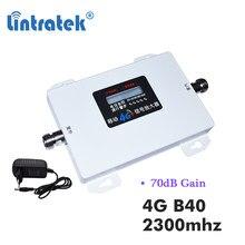 Lintratek – amplificateur de téléphone portable 2300mhz B40 LTE 4G, 70db TD 2300, répéteur de communication internet 4g, LCD s9
