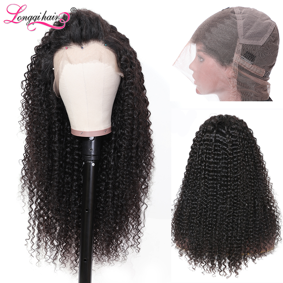Longqi Hair Pre Plucked Full Lace Human Hair Wigs Natural Hair Remy Brazilian Curly Wig Human