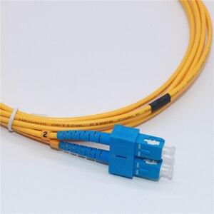 Image 2 - 10 шт. волоконно оптический патч кабель SC/UPC SC/UPC одномодовый дуплексный волоконно оптический патч корд 3 м 3,0 мм SC SC волоконно оптическая Перемычка кабель