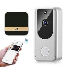 WIFI Doorbell Smart Home Wireless Waterproof Phone Door Bell Camera 720P HD Security Outdoor Two Way Audio Video Intercom