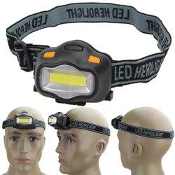 Lighting Headlight 12 Mini COB Outdoor LED magnet Headlight Camping Cycling Hiking Fishing Activities Flashlight