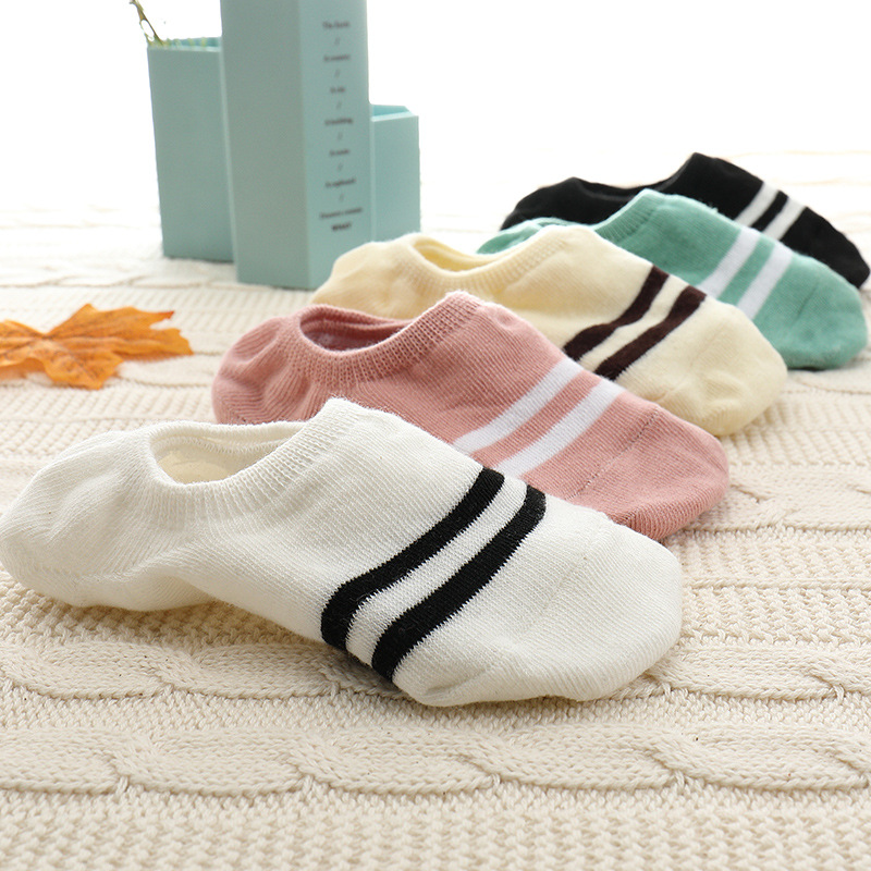 Women Socks Invisible-Sock Slip Fruits Funny Silicone 5pairs Cute Happy-Art New Arrivl