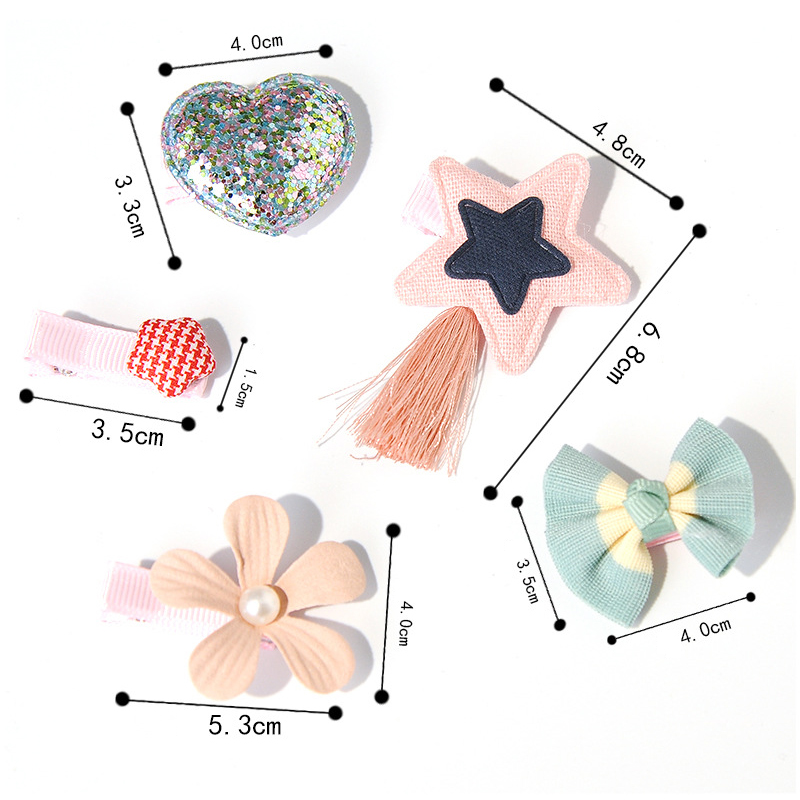 5PCS Lot Sequin Hair Clips for Girls Women Hairpin Barrettes Cartoon Animal Hairgrip Headwear Flower Princess Hair Accessories in Hair Accessories from Mother Kids