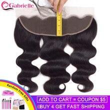 Габриэль 13x4 кружева Фронтальная застежка 8-22 дюйма бразильские объемные волны remy волосы фронтальные натуральный цвет человеческие волосы