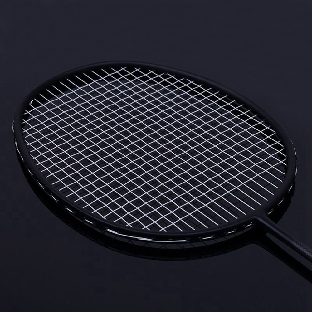 Super Light 7U 67g Strung Badminton Racket Black Professional Carbon Badminton Racquet 28LBS Free Grips And Wristband
