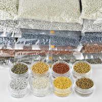 2 Mm (2000 Pcs) 3 Millimetri (500 Pcs) 4 Mm (200 Pcs) oro Argento Bronzo di Colore Del Distanziatore di Cristallo Perle di Vetro, Repubblica Seed Beads per Monili Che Fanno di