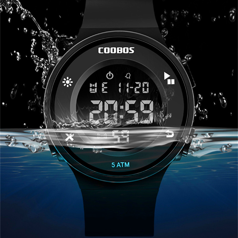 Swim Children's Watch Electronic Digital Clock Fashion Student Child Watches Multifunction Outdoor Military Hour 50M Waterproof