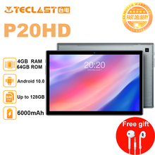 Teclast tablet P20HD 10.1inch Octa Core 4G Phone Call Android10 1920×1200 4GB RAM 64GB ROM Type-C AI-speed-up 6000mAh tablet PC