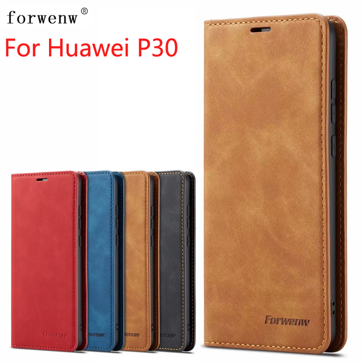 New For Huawei P30 Case Magnetic Phone Cover Wallet Flip Leather Stand