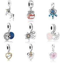 Fashion Colletion 100% 925 Sterling Silver Moon And Star Dangle charms Fit Pandora Bracelet Beads For Jewerly Making Gift