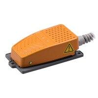 Pedal eléctrico Industrial de aleación de aluminio antideslizante, resistente al agua, con Cable, herramienta de interruptor de 250V, Control momentáneo 10A
