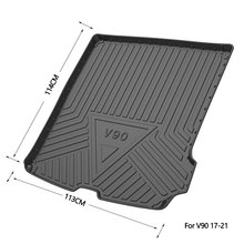 For Volvo V90CC Cargo Liner Floor Mat All Weather Trunk Protection Durable HD TPO Fit V90 Cross Country 17 21 Carpet Accessories