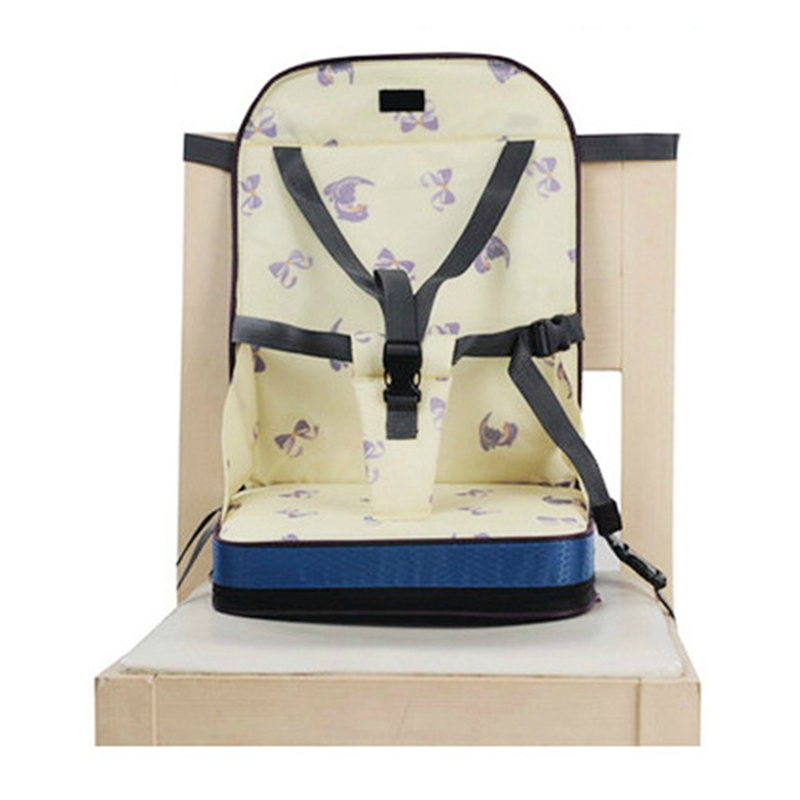 Baby Cute Dining Chair Bag Baby Portable Seat Oxford Water Proof Fabric Infant Travel Foldable Safety Belt Feeding High Chair