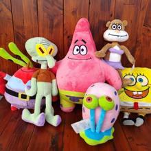Patrick estrela sandy gary o caracol squidward tentáculos eugene h. krabs animais de pelúcia crianças brinquedos do bebê