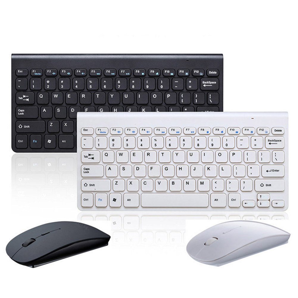 2.4GHz Wireless Keyboard + Wireless Mouse Combo Set For Laptop PC Desktop GV99