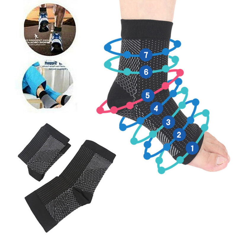 Yoga Ankle Sports Socks Fitness Sprain Protection Elastic Ankle Support Compression Plantar Sleeve Sport Foot Wrap Strap Brace