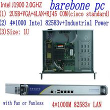 x86 mini pc with  celeron J1900 quad core four thread thin client/linux firewall PC/2.0GHz 8G RAM 500G HDD