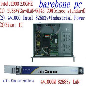 1U j1900 firewall router pfsense PC x86 server pc with  celeron J1900 quad core four thread thin client/linux 1u j1900 firewall router pfsense router server firewall server with j1900 2 0ghz 4 82583v 1000mbps lans 4 lan