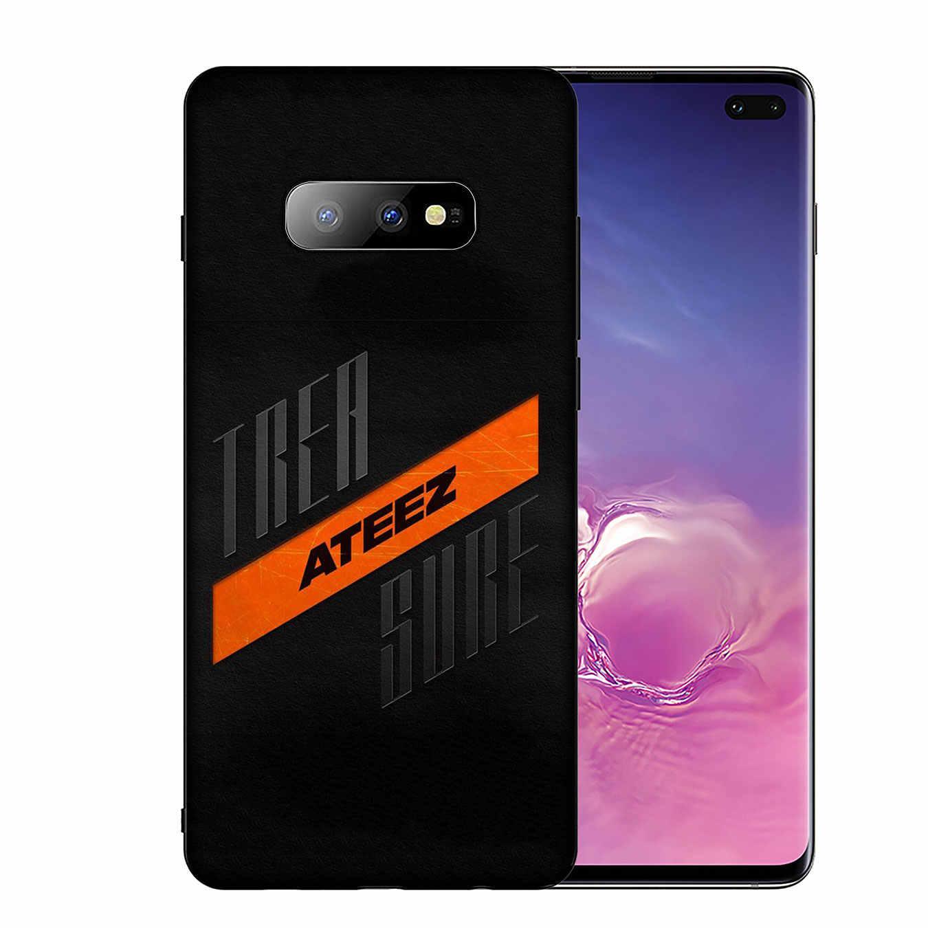KPOP ATEEZ LOGO yumuşak silikon telefon samsung kılıfı Galaxy S10 E S9 S8 artı S6 S7 kenar S10e TPU siyah kapak