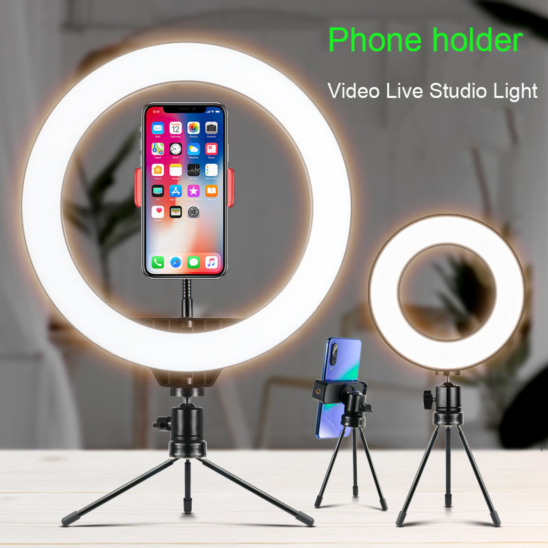 26cm 10inch USB Charge New Selfie Ring Light Flash Led Camera Phone Photography Enhancing Photography For Smartphone Studio VK