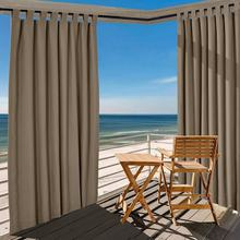 Outdoor Curtain Patio Windproof Waterproof Panel Rustproof Fading Resistant Drapery 5 Colors (1 Panel) ChadMade EDITH