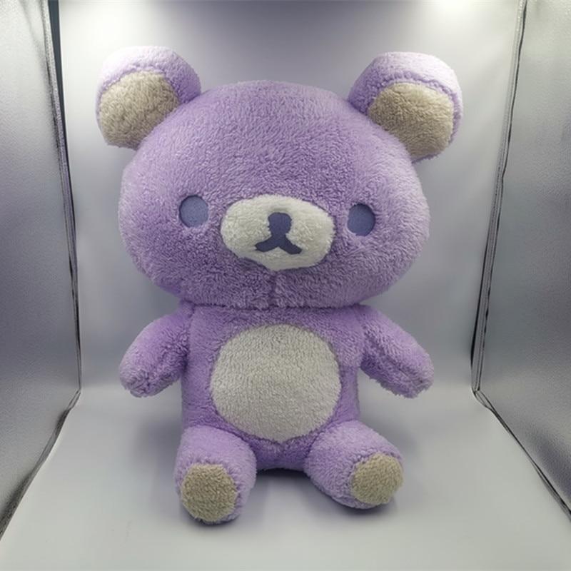 55 Giant Rilakkuma Bear Plush Toys Life Size Relax Bear Pillow Dolls Soft Stuffed Animals Valentine&#39s Day Girlfriend Gif