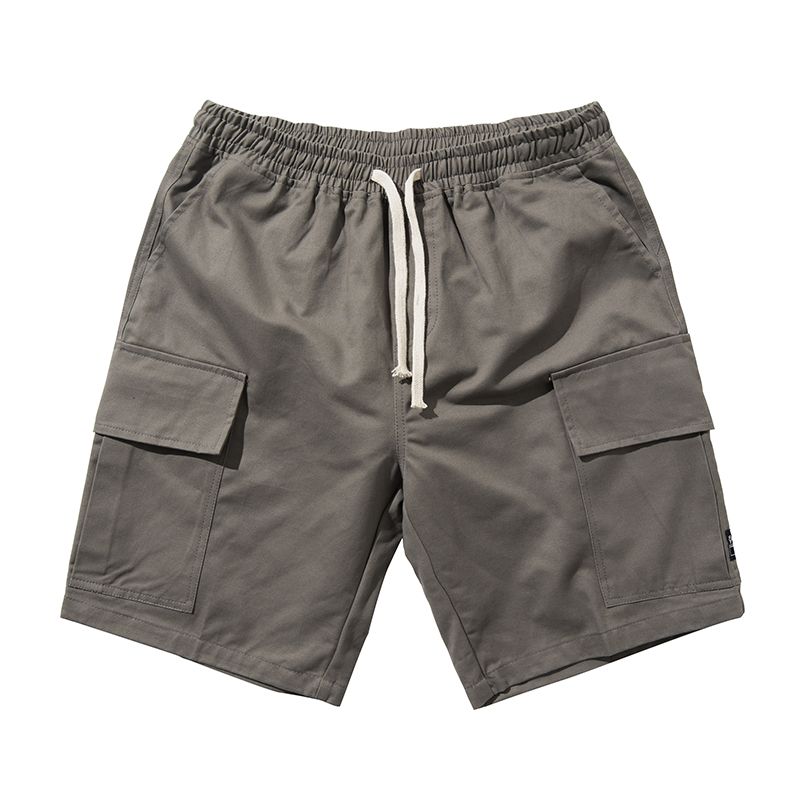 Vintage Men Casual Shorts With Pockets Loose Cargo Shorts Cotton Summer Plus Size Thin Sweatpants Roupas Mens Clothing XX60MS